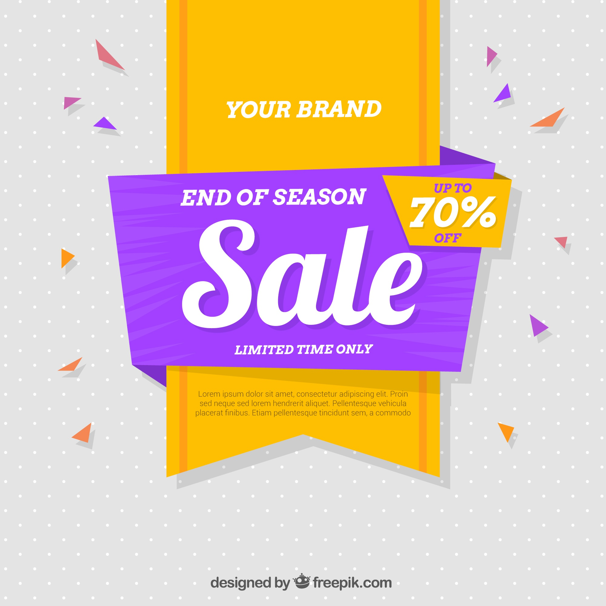 Flat colorful sale background