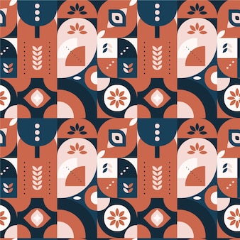 Flat colorful scandinavian design pattern