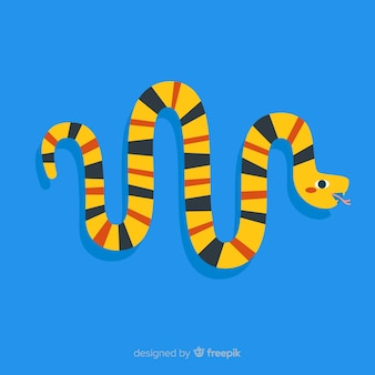 Flat colorful snake background