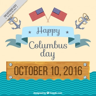 Flat columbus day background