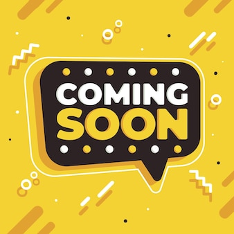 Flat coming soon background Free Vector