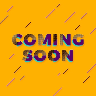 Flat coming soon promo background