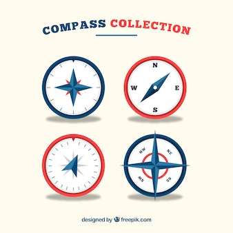 Flat compass collection