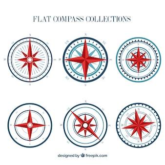 Flat compass pack