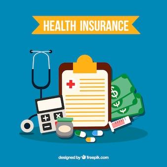 건강 보험 개체의 평면 구성