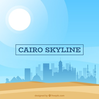 Flat composition with cairo's skyline