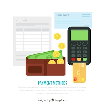 Flat composition with payment elements