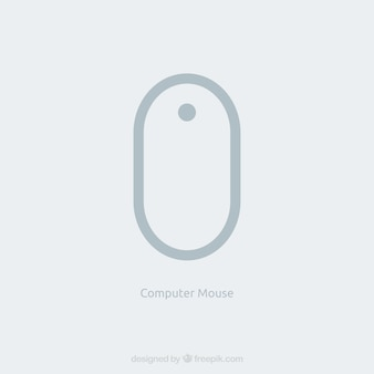 Flat computer mouse