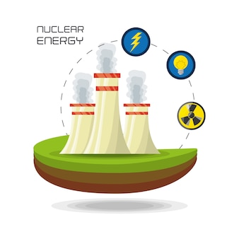 Flat concept nuclear plant generator energy