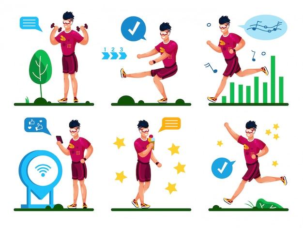 Летние занятия фитнесом flat concepts set
