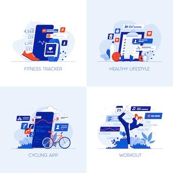 Flat conceptual icons