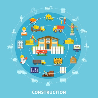 Flat construction elements
