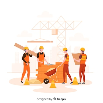Flat construction engineering background
