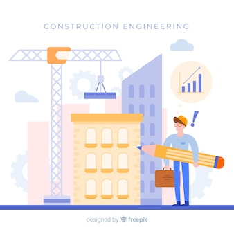 Flat construction engineering concept