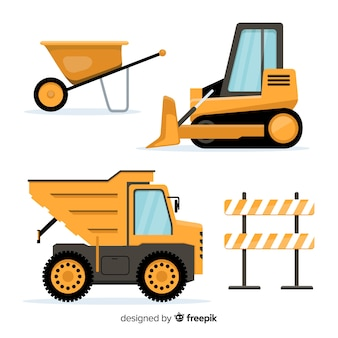 Flat construction equipment collection