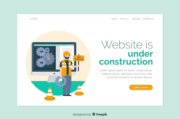 Flat under construction landing page