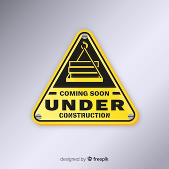 Flat under construction sign