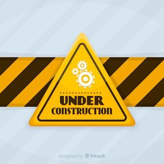 Flat under construction sign