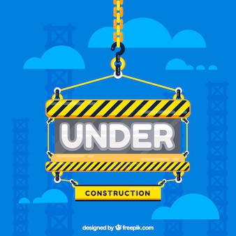 Flat under construction template