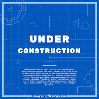 Flat under construction template