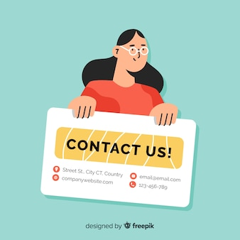 Flat contact us background