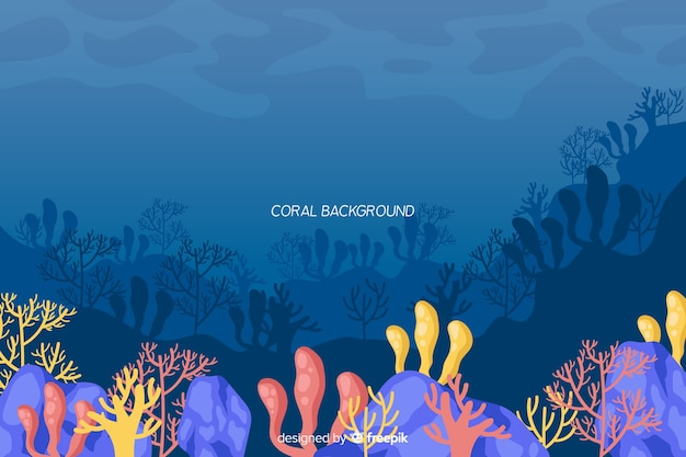 Flat coral background