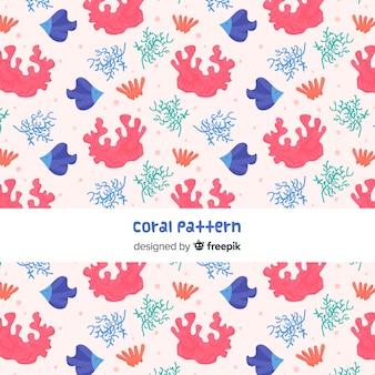 Flat coral pattern
