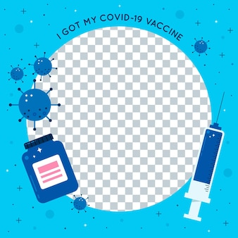 Flat coronavirus facebook frame