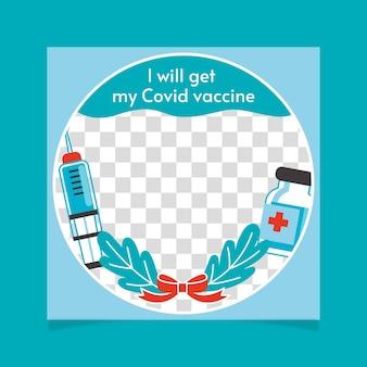 Плоская рамка facebook с коронавирусом