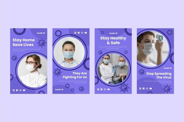 Коллекция историй о коронавирусе в instagram