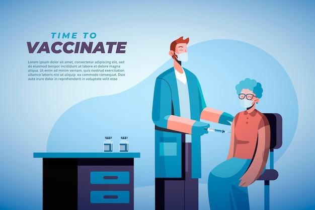 Campagna di vaccinazione contro il coronavirus piatto