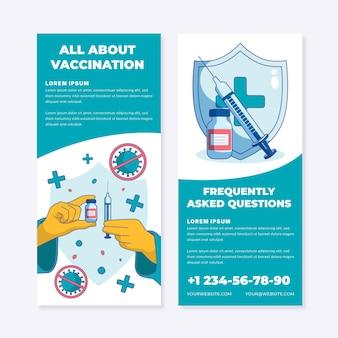 Flat coronavirus vaccination informative brochure