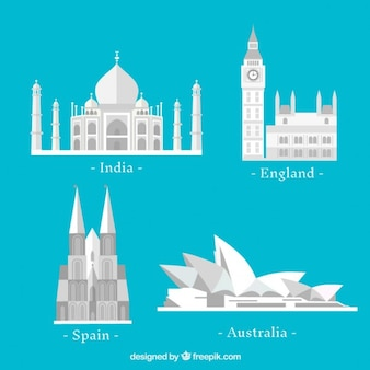 Flat country monuments