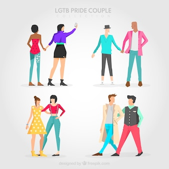 Flat couple collection for lgtb pride