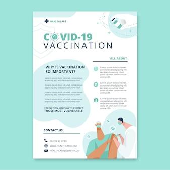 Volantino di vaccinazione piatto covid19
