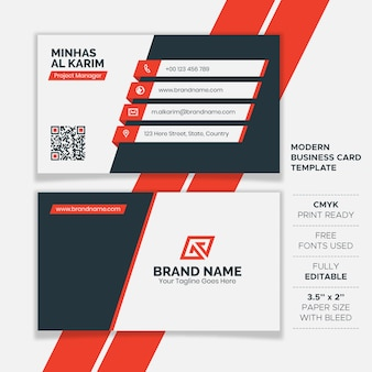 Flat creative business card template