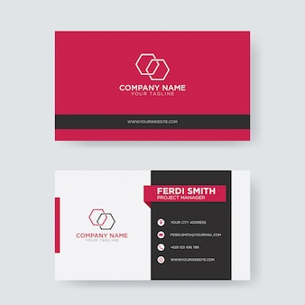Flat creative business card