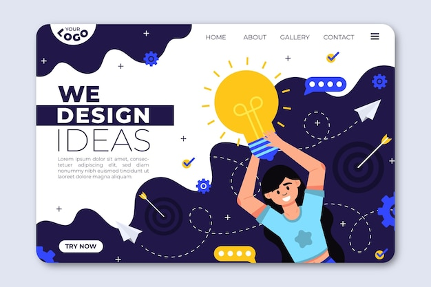 Flat creative solutions landing page