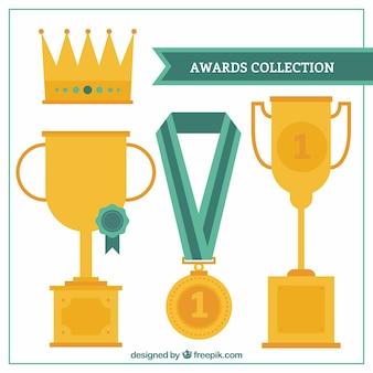 フラット王冠と賞セット