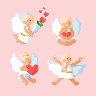 Flat cupid character set