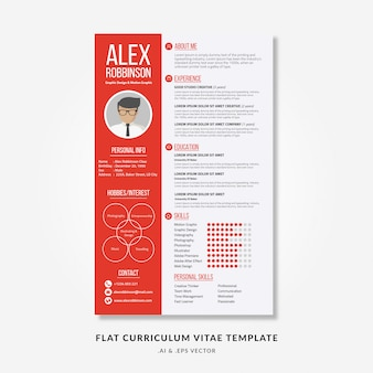 Flat curriculum vitae template