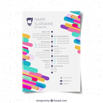 Cv template vectors photos and psd files free download flat curriculum vitae template yelopaper