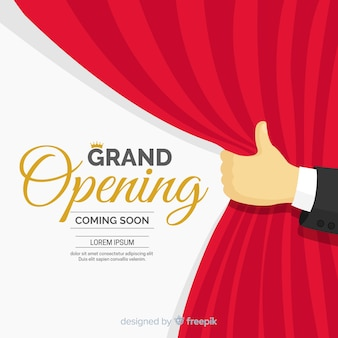 Flat curtain grand opening background
