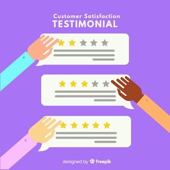Flat customer satisfaction concept