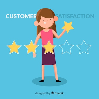 Flat customer satisfaction design
