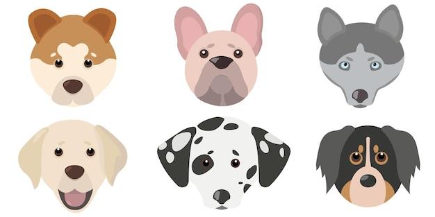 フラットかわいい犬のヘッドセット