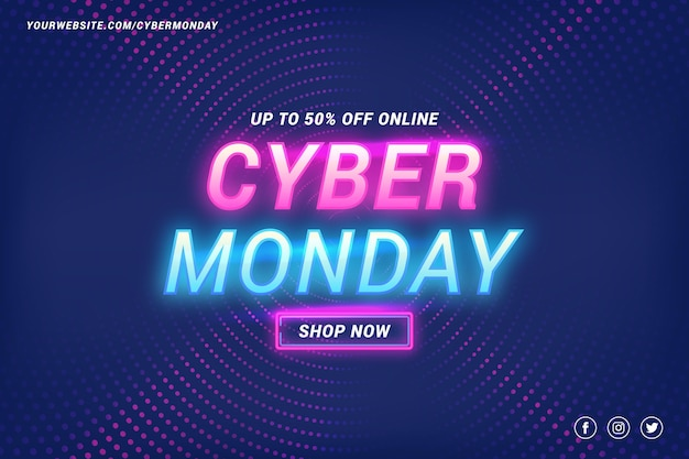 Flat cyber monday background