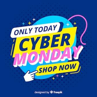 Flat cyber monday online shopping