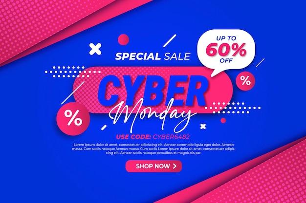 Flat cyber monday sale background