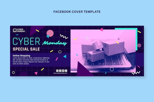 Шаблон обложки в социальных сетях киберпонедельник
